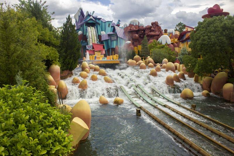 ORLANDO, EUA - 14 de outubro de 2016 - visitantes, estúdios universais do parque temático fotos de stock royalty free