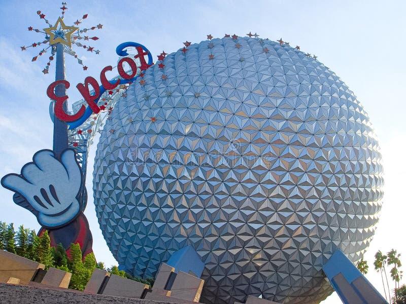 The Spaceship Earth Sphere. Orlando FL USA November 20 2006 The Spaceship Earth Sphere at Epcot Center in Walt Disney World in Orlando Florida royalty free stock image