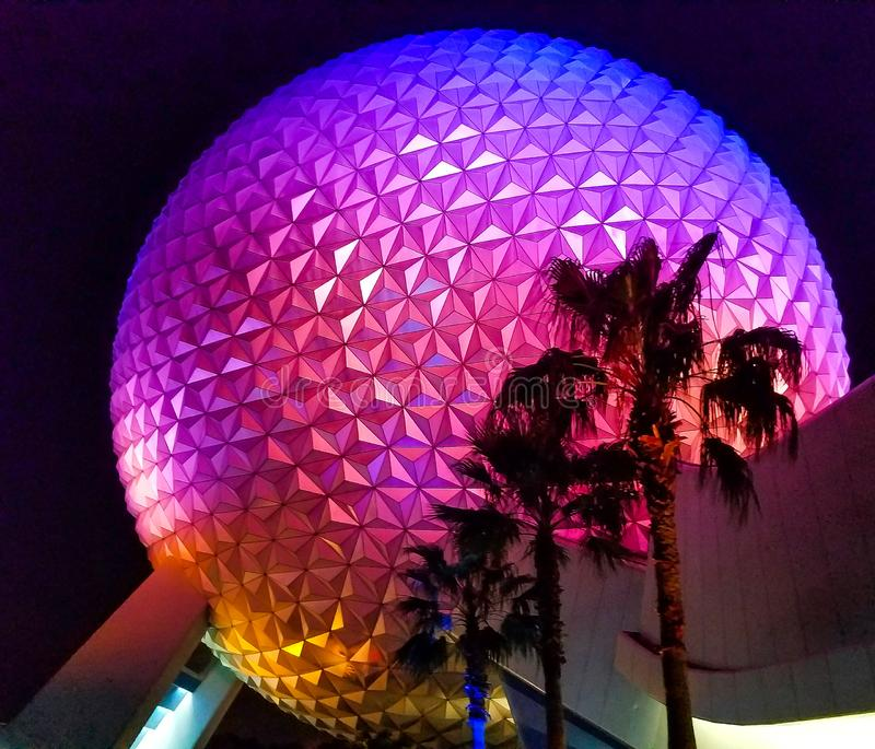 Walt Disney World`s Spaceship earth stock photography
