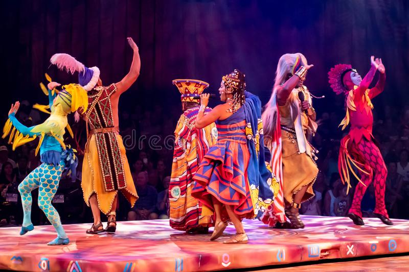 Festival of the Lion King at Animal Kingdom 49. Orlando, Florida. August 14, 2019. Festival of the Lion King at Animal Kingdom 49 royalty free stock photos
