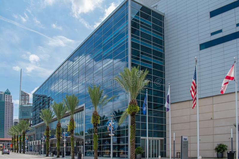 Partial view of Anway Center at downtown area 98. Orlando, Florida. August 17, 2019. Partial view of Anway Center at downtown area 98 royalty free stock photos