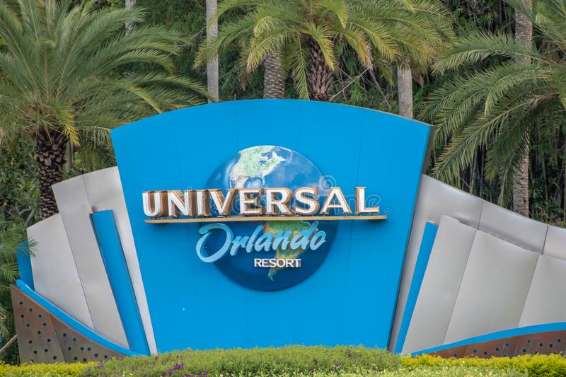 Universal Orlando logo at Universal Studios area 3. royalty free stock images