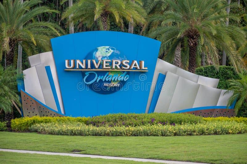 Universal Orlando logo at Universal Studios area 4 royalty free stock photography