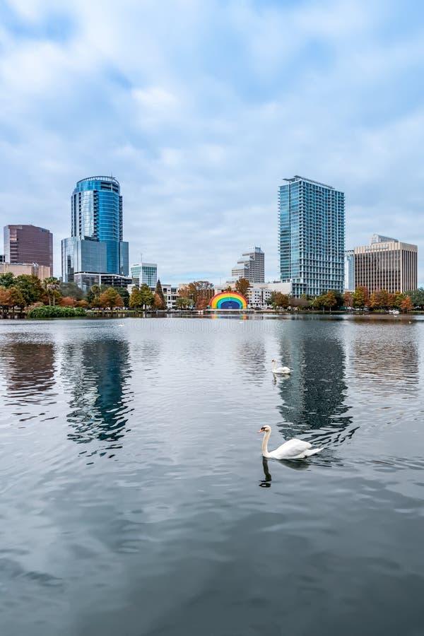 ORLANDO, FLORIDA, DE V.S. - DECEMBER, 2018: Het Park van het Eolameer, populaire bestemming voor festivallen, overleg, liefdadigh stock foto