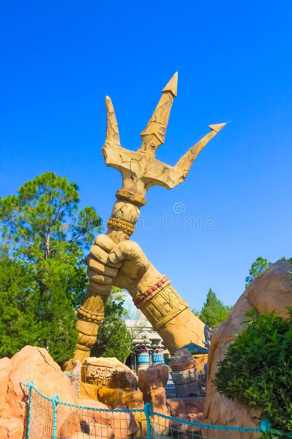 Orlando, Florida, de V.S. - 09 Mei, 2018: Poseidon` s Woede Eilanden van Avontuur universeel royalty-vrije stock foto