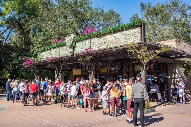 Entrance at Animal Kingdom at Walt Disney World. Orlando, Florida: December 1, 2017: Entrance at Animal Kingdom at Walt Disney World at Animal Kingdom at Walt royalty free stock photos