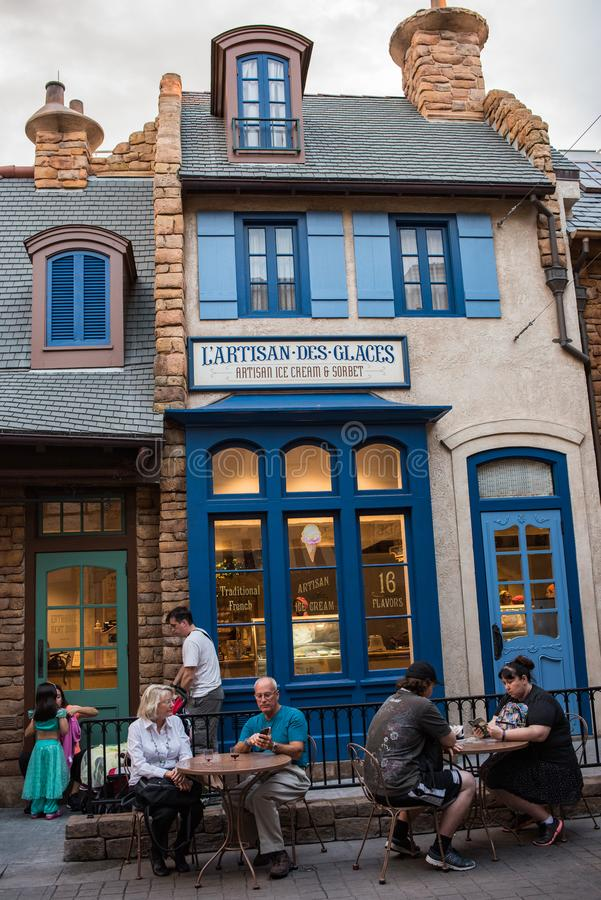 France Pavilion at Epcot stock image