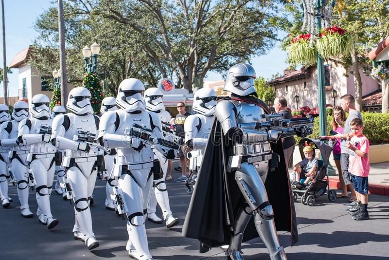 Star Wars Storm Troopers at Disney`s Hollywood Studios. stock photography