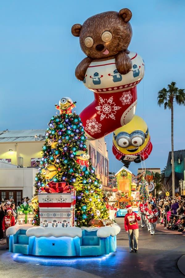 Orlando, Florida - dicembre 2017: Parata di festa di Universal's che caratterizza Macy's fotografie stock