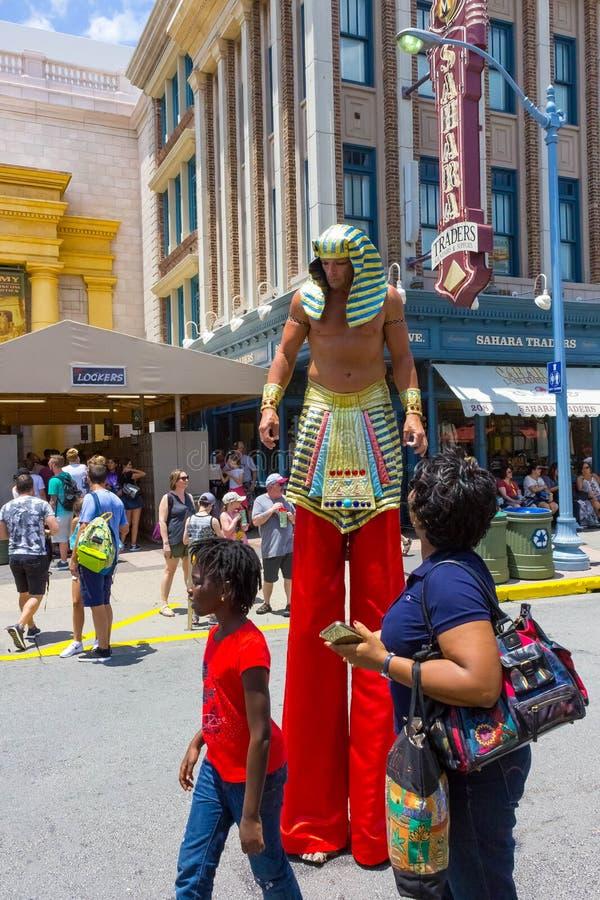 ORLANDO, FLORIDA, EUA - 8 DE MAIO DE 2018: Entrada à vingança do passeio da mamã em estúdios universais Orlando imagens de stock royalty free
