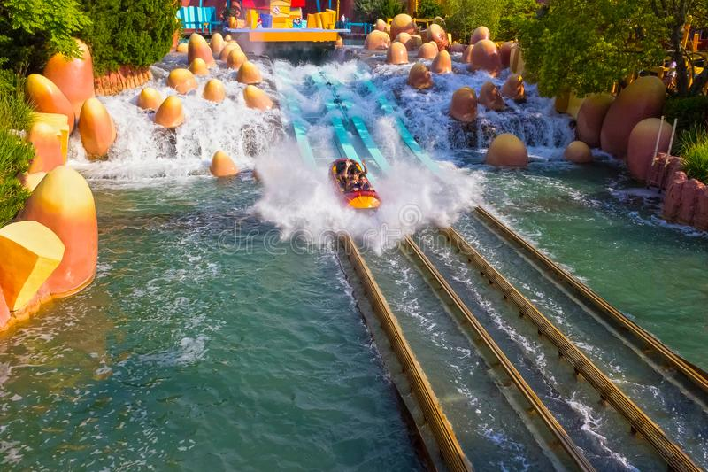 Orlando, Florida, EUA - 10 de maio de 2018: Passeio Toon Lagoon Ilhas da aventura universal imagem de stock royalty free