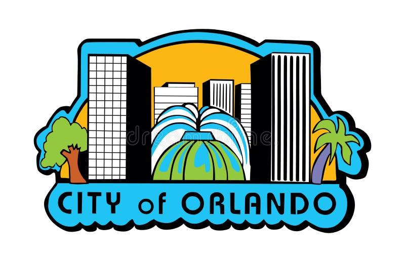 Orlando, Florida EUA embandeira o vetor, protetor da cidade de Orlando ilustração stock