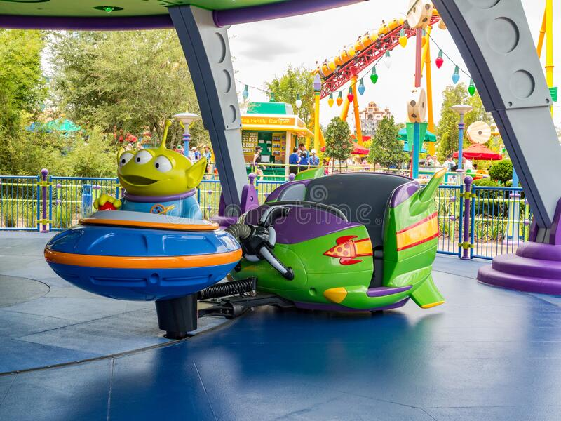 Alien Swirling Saucers in Toy Story Land, Disney World royalty free stock photos