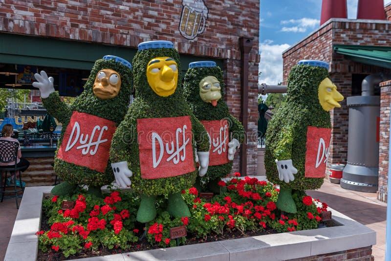 ORLANDO FLORIDA - MAJ 06, 2015: Simpsons dragningar i universella Orlando, Florida royaltyfri fotografi