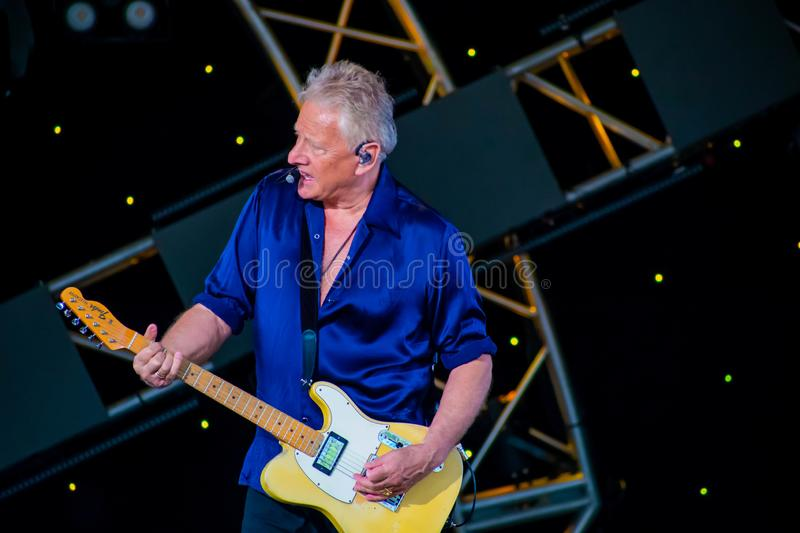 Graham Russell   from air supply, singing beautiful melody at Epcot in Walt Disney World 9. Orlando, Florida. March 26, 2019. Graham Russell   from air supply stock photos