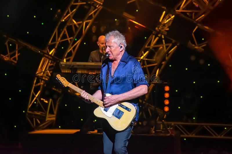 Graham Russell from air supply, singing beautiful melody at Epcot in Walt Disney World  4. Orlando, Florida. March 26, 2019. Graham Russell from air supply royalty free stock photos
