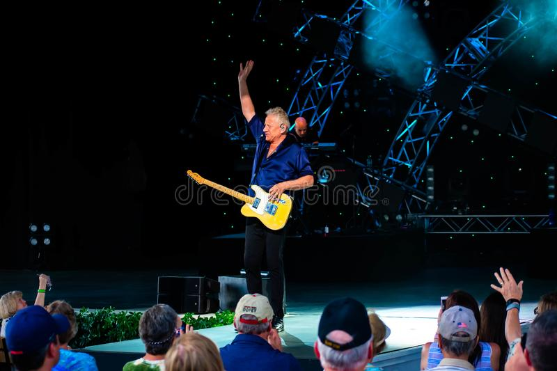 Graham Russell   from air supply, singing beautiful melody at Epcot in Walt Disney World 2. Orlando, Florida. March 26, 2019. Graham Russell   from air supply royalty free stock photography