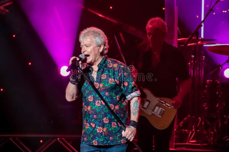 Russell Hitchcock  from air supply, singing beautiful melody at Epcot in Walt Disney World 27. Orlando, Florida. March 26, 2019. Russell Hitchcock  from air royalty free stock photography