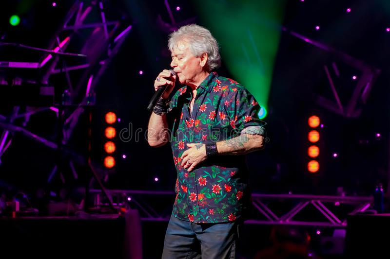 Russell Hitchcock  from air supply, singing beautiful melody at Epcot in Walt Disney World 30. Orlando, Florida. March 26, 2019. Russell Hitchcock  from air stock images