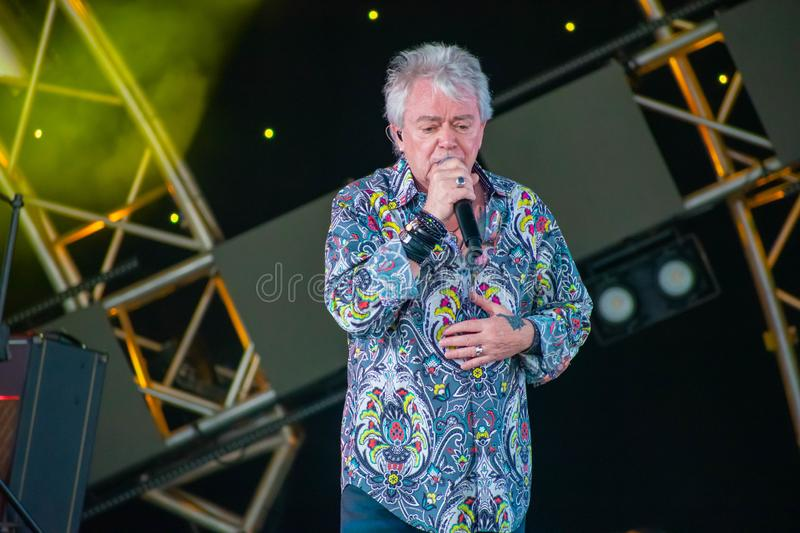 Russell Hitchcock  from air supply, singing beautiful melody at Epcot in Walt Disney World 12. Orlando, Florida. March 26, 2019. Russell Hitchcock  from air royalty free stock photo
