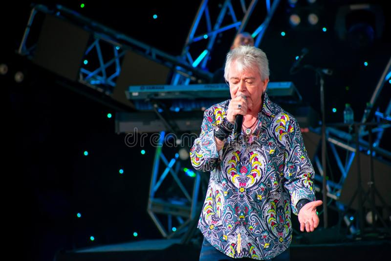 Russell Hitchcock  from air supply, singing beautiful melody at Epcot in Walt Disney World 7. Orlando, Florida. March 26, 2019. Russell Hitchcock  from air royalty free stock photos