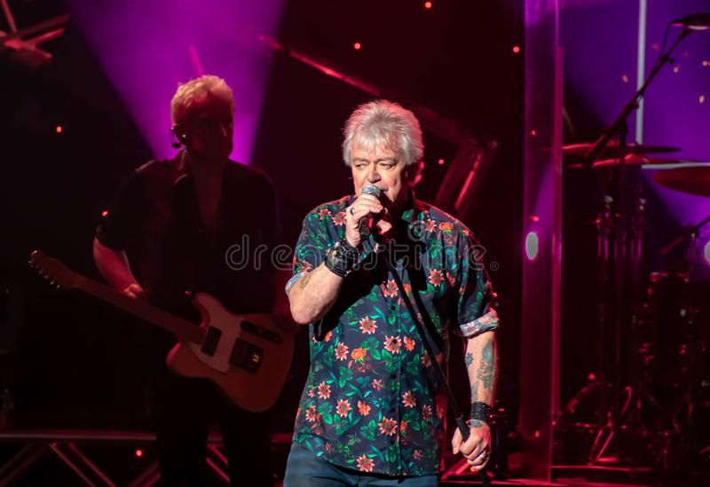 Russell Hitchcock  from air supply, singing beautiful melody at Epcot in Walt Disney World 23. Orlando, Florida. March 26, 2019. Russell Hitchcock  from air stock image