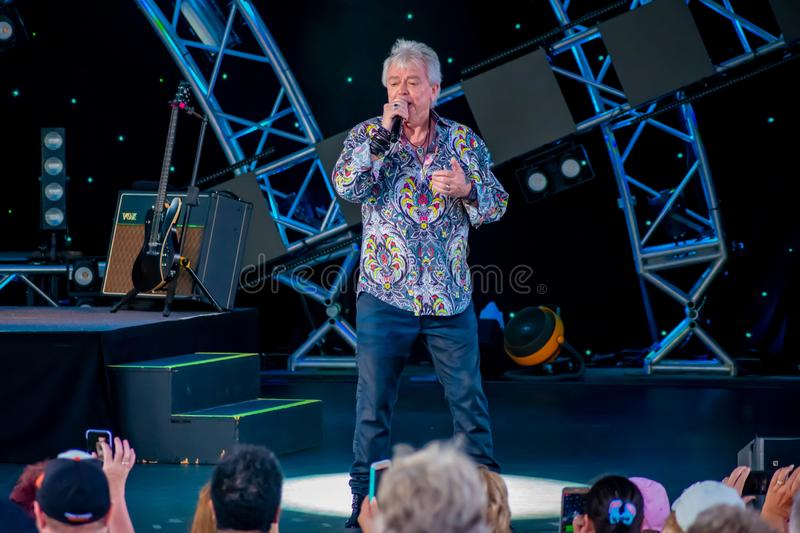 Russell Hitchcock  from air supply, singing beautiful melody at Epcot in Walt Disney World 4. Orlando, Florida. March 26, 2019. Russell Hitchcock  from air stock images