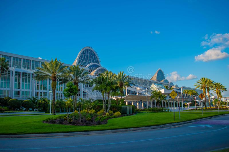 Convention Center in International Drive area 1. Orlando, Florida. May 26, 2019.  Convention Center in International Drive area 1 stock photography