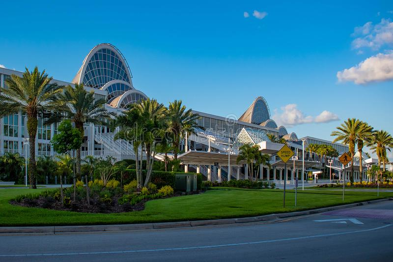 Convention Center in International Drive area 240. Orlando, Florida. May 23, 2019. Convention Center in International Drive area 240 royalty free stock photos