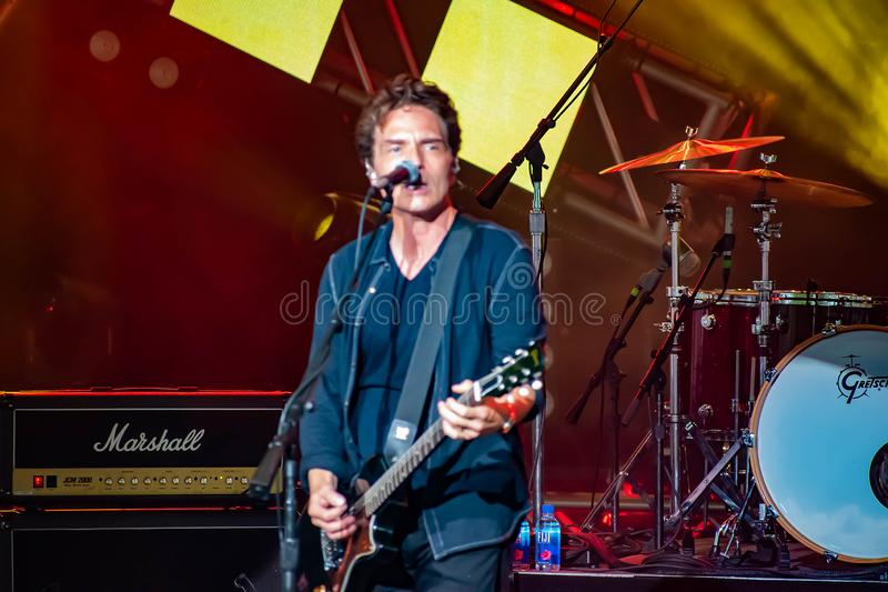 Richard Marx singing This I Promise You in Garden Rock Festival at Epcot in Walt Disney World Resort  8 stock photo