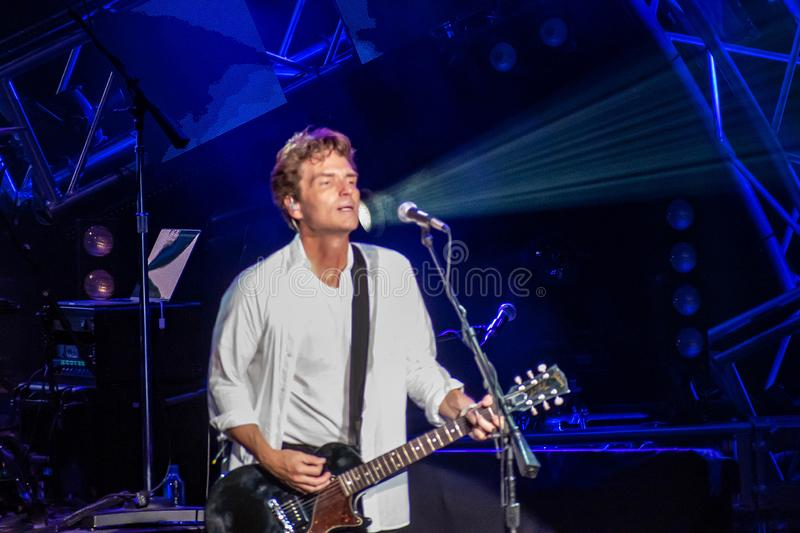 Richard Marx singing Right Here Waiting for You in Epcot at Walt Disney World 2 royalty free stock photo