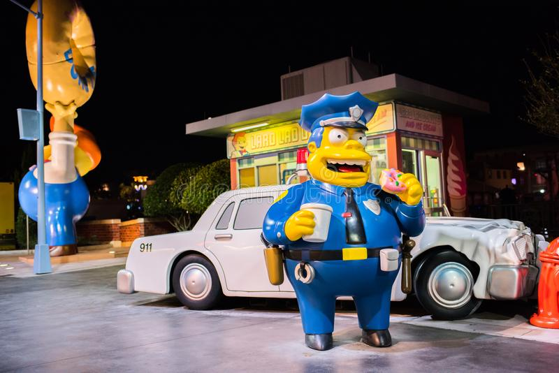 The Simpsons area at Universal Studios Florida. stock image