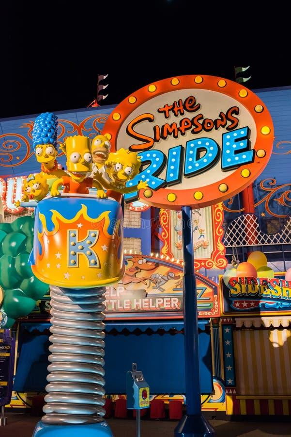 The Simpsons area at Universal Studios Florida. stock photo