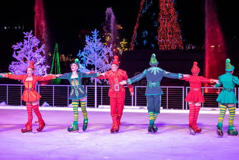 Winter Wonderland on Ice at Seaworld`s Christmas Celebration 153. Orlando, Florida . November 23, 2019. Winter Wonderland on Ice at Seaworld`s Christmas stock photos