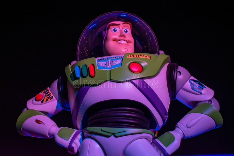 Top view of Buzz Light Year in Toy Story Land at Hollywood Studios 2 royalty free stock images