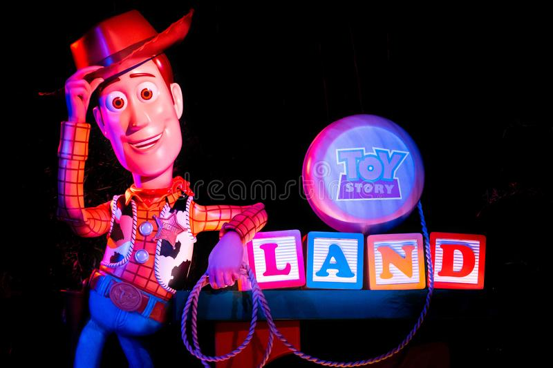 Top view of Sheriff Woody in Toy Story land at Hollywood Studios 161. royalty free stock photos
