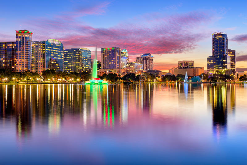 Orlando Florida Skyline photographie stock libre de droits