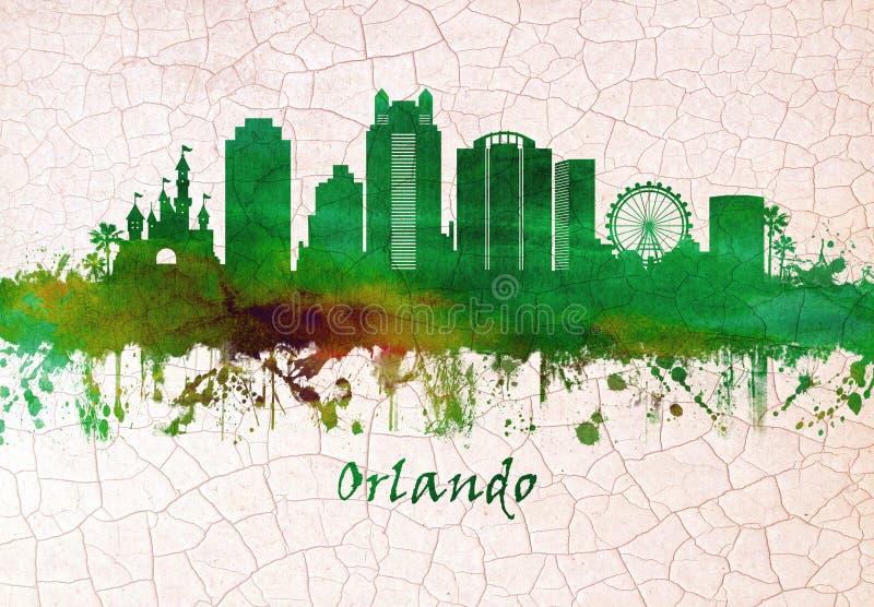 Orlando Florida Skyline illustrazione vettoriale