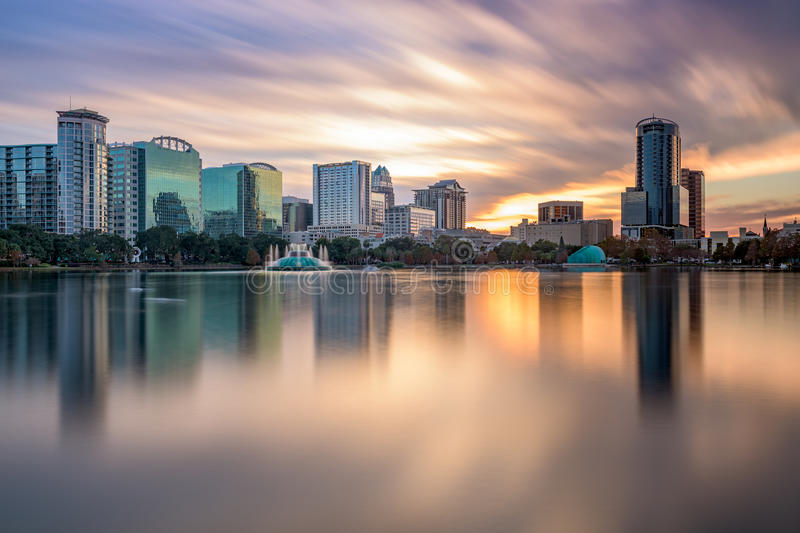 Orlando Florida Skyline stock image