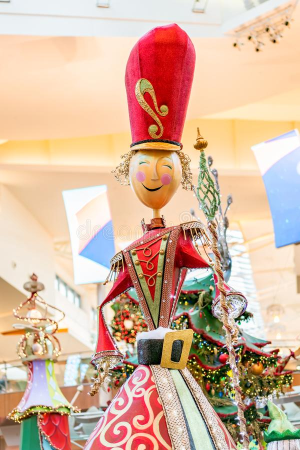 ORLANDO, FLORIDA, USA - DECEMBER, 2018: Colorful Christmas decoration at Mall Mall at Millenia stock photo