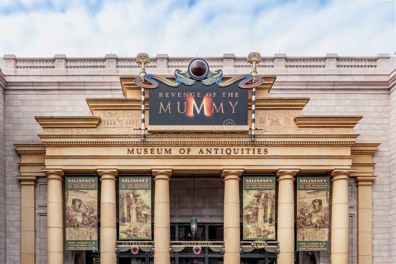 ORLANDO FLORIDA, USA - DECEMBER, 2018: Hämnden av mamman på Universal Studios royaltyfri fotografi