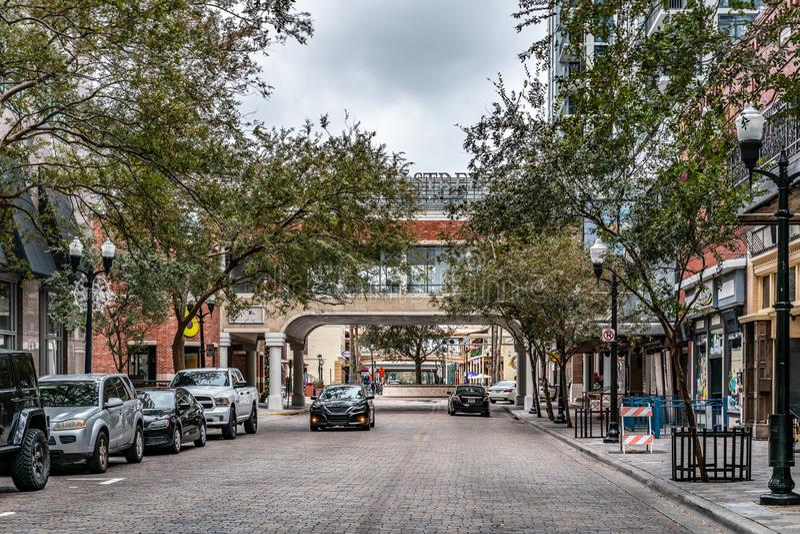 ORLANDO FLORIDA, USA - DECEMBER, 2018: Kyrkagatamarknad royaltyfri fotografi
