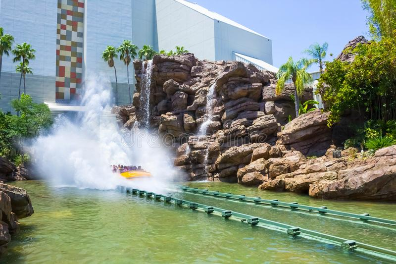 Orlando, Florida, USA - May 09, 2018: Jurassic Park River Adventure in the Jurassic Park area of Universals Island of. Orlando, Florida, USA - May 09, 2018: The stock photos