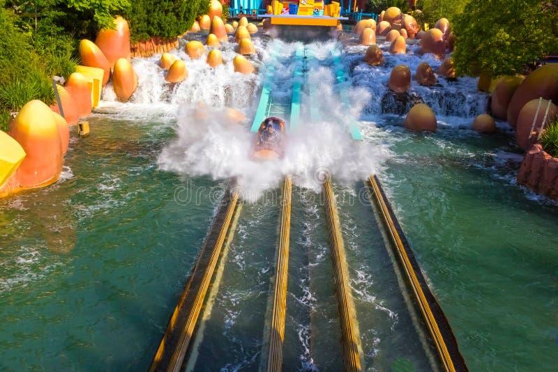Orlando, Florida, USA - May 10, 2018: Ride Toon Lagoon. Islands of Adventure. Universal. Orlando, Florida, USA - May 10, 2018: The Ride Toon Lagoon. Islands of royalty free stock photography