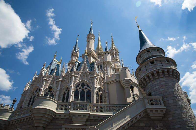 Orlando, immagine dal castello al mondo di Disney immagini stock libere da diritti