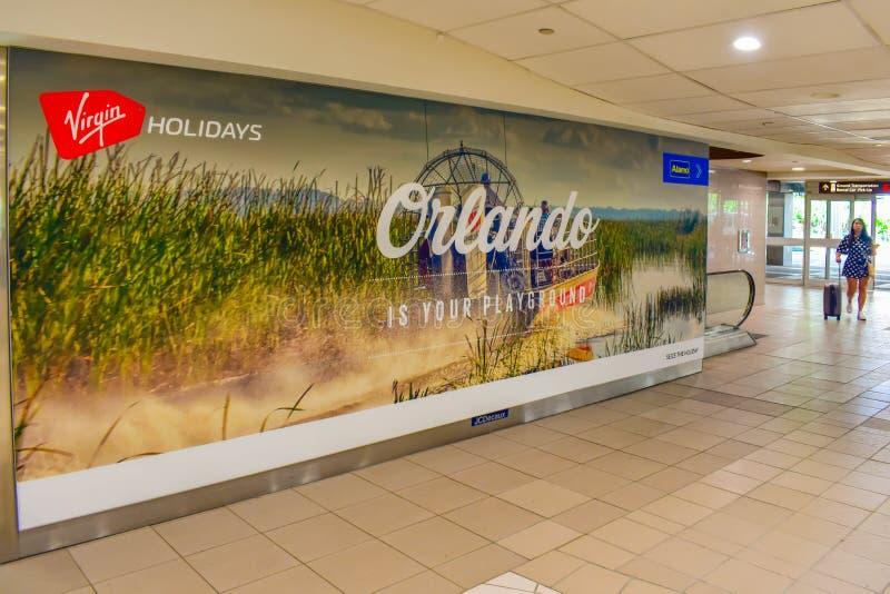 Orlando Jest twój boiska znakiem przy Orlando lotniskiem międzynarodowym obraz royalty free