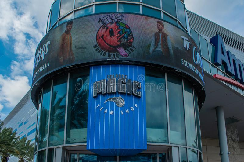 Orlando Magic Team shop on Anway Center at downtown area 81. Orlando, Florida. August 17, 2019. Orlando Magic Team shop on Anway Center at downtown area 81 royalty free stock images