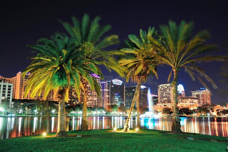 Orlando-Nachtszene stockfotografie