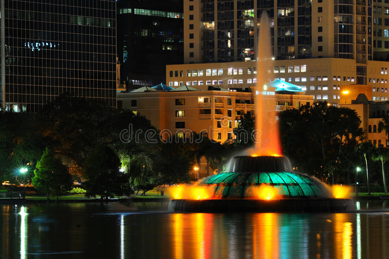 Orlando's Lake Eola Fountain stock images