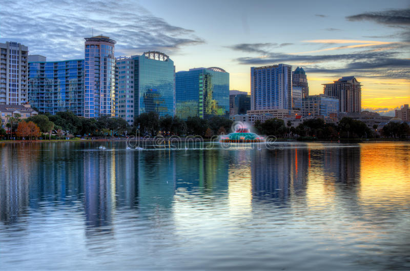 Download Orlando Skyline stock image. Image of office, district - 23728239
